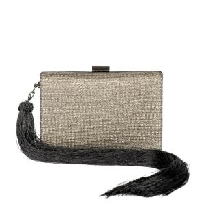 Rectangular clutch with tassel