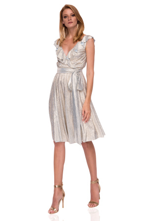 Midi dress with shiny effect