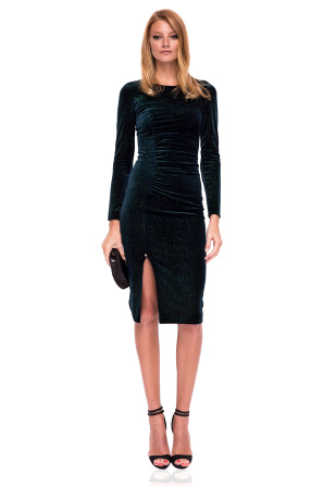 Midi bodycon velvet dress