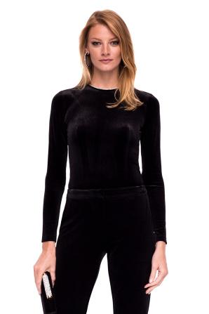 Velvet top with long sleeves