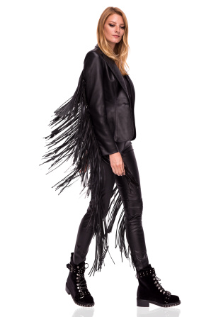 Jacket with fringe details