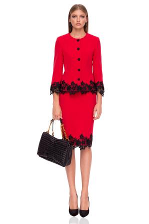 Midi skirt in contrasting colors