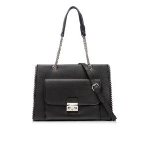 Elegant bag with metallic chain