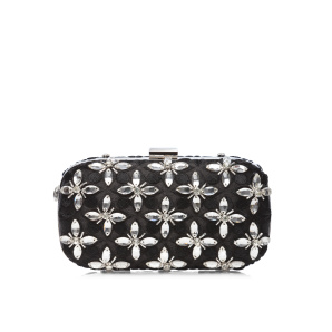 Clutch with embroiderry and crystals