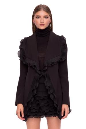 Elegant jacket with ruffles