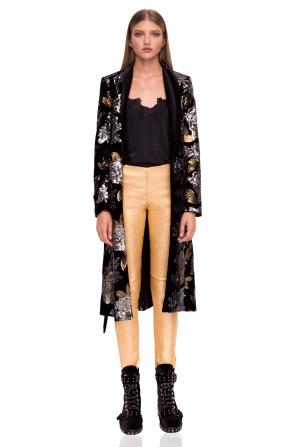 Sequined velvet coat