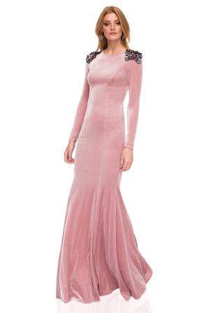 Maxi elegant velvet dress