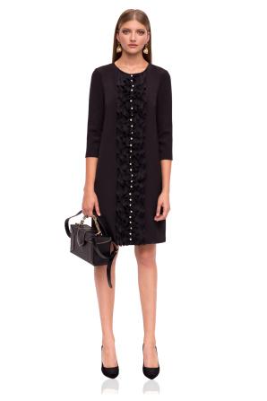 Midi dress with 3/4 sleeves
