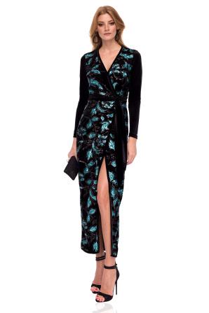 Wrap dress with sequin details