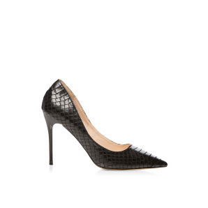 Stiletto with embossed pattern