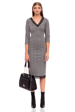 Midi dress with 3/4 sleeves