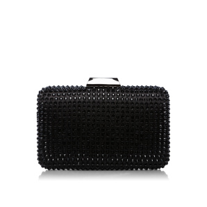Elegant clutch with glass stones