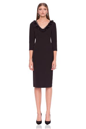 Bodycon dress with V neckline