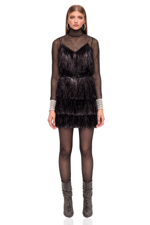 Mini fringed  dress