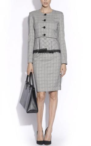 Checked grey skirt