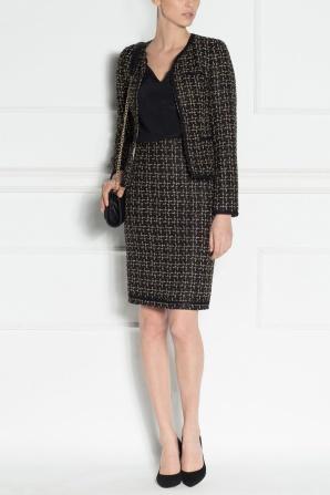 Textured fabric blazer