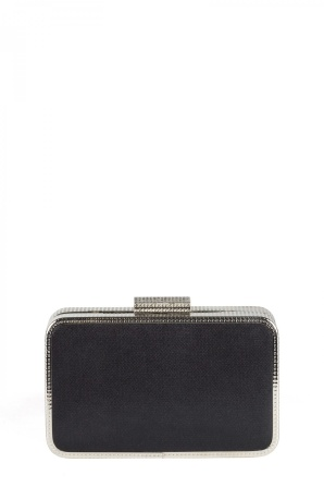 Black clutch with shiny details