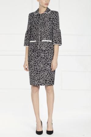 Midi skirt with geometric print