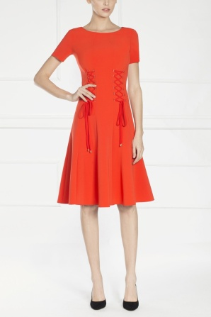 Red dress, A shaped