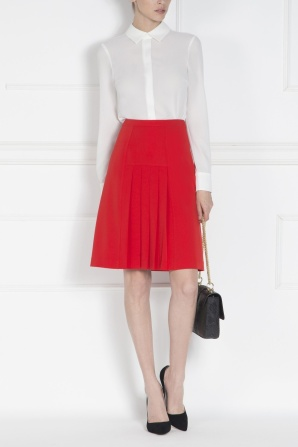 Pleated office skirt