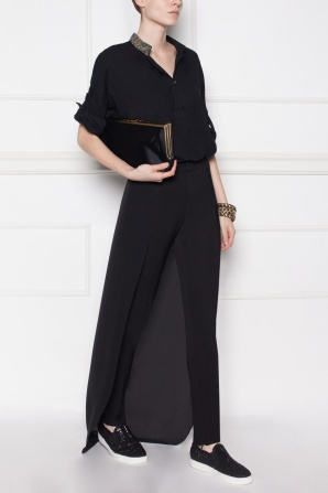 Black pants with back detail