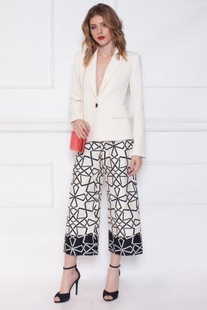 Printed culottes pants