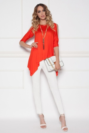 Asymmetrical red top