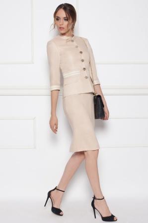 Linen beige suit jacket