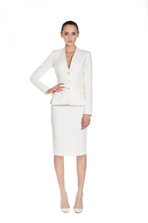 White suit jacket with side details