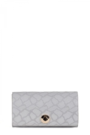 Gray clutch with details