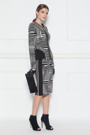 Blazer with geometric print