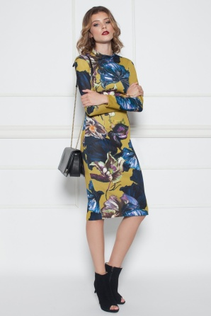 Bodycon dress with floral print
