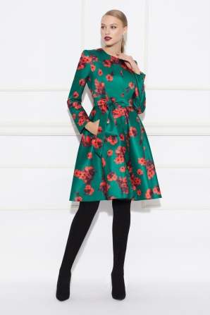 Coat with floral print
