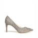 Pantofi stiletto din stofa gri de lana