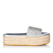 Glittered espadrille platform sandals