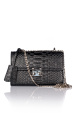 Mini croco leather bag