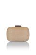 Fabric gold clutch