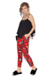 Casual pants with geometric print