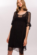 Silk dress with ethnic details
