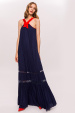 Maxi dress with contrasting details