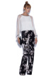 Floral printed straight trousers