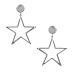 Cercei metalici in forma de stea
