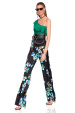 Straight trousers with floral print