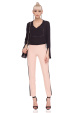 Slim trousers with high waist