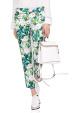 Slim pants with floral print