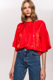 Rayon top with butterfly sleeves