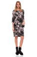 Loose dress with floral print