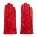 Colored leather gloves