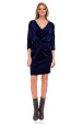 Velvet dress with V neckline