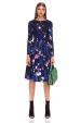 Midi floral printed dress